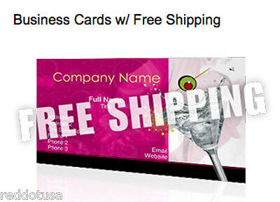 1000 Business Cards Front & Back Print Full color ,Free Shipping free uv coatini