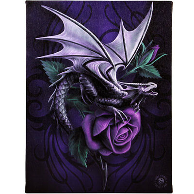 Fantasy Gothic Art Canvas Wall Plaque~Dragon Beauty~by Anne Stokes~32~uk