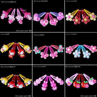 Wholesale 40pcs Mix Colours Baby Kids Girls Children Hair Pin Clips Hair Jewelry