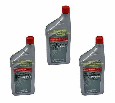 3 Quarts  GENUINE HONDA Automatic Transmission oil Fluid  ATF DW-1 / Isuzu Oasis