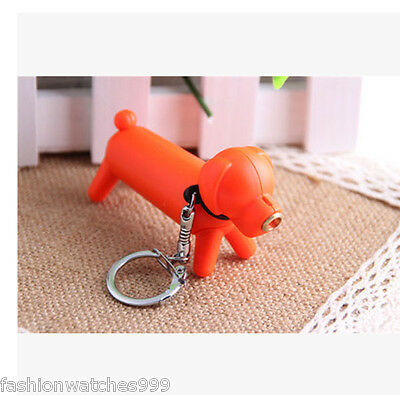 Cute Dog Shape Refillable Butane Gas Cigar Cigarette Normal Flame Lighter Orange