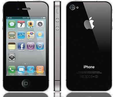 Apple iPhone 4 16GB WiFi Verizon Wireless Black Smartphone Clean Esn 16-GB