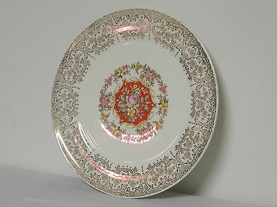 """Vintage The Sebring Pottery Co BUDDHA 22 K Gold 10"""" Dinner Plate A-49 S 284"""