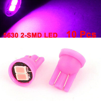 10Pcs T10 152 5630 2-SMD LED Dashboard Light Signal Bulbs Pink 12V Internal