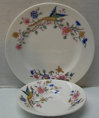 Vintage Royal Doulton Furness Bermuda Line Bone China Plate and Small Dish