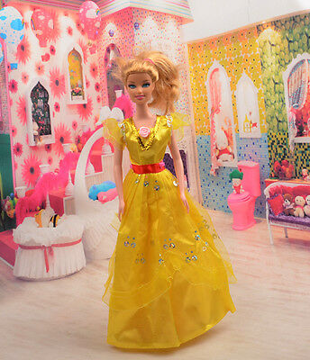 2014 Hot style Fashion Handmade princess  party Clothes dress For Noble Doll D35