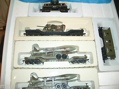 Ho Bachmann/ihc  Us Army Ge 45 Ton Dcc Missile Carrier Train Set # 7