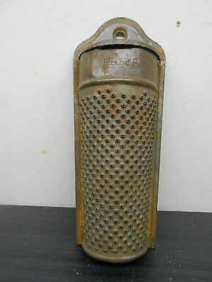 Vintage FRIES Nutmeg Grater with Storage Top 7'' long