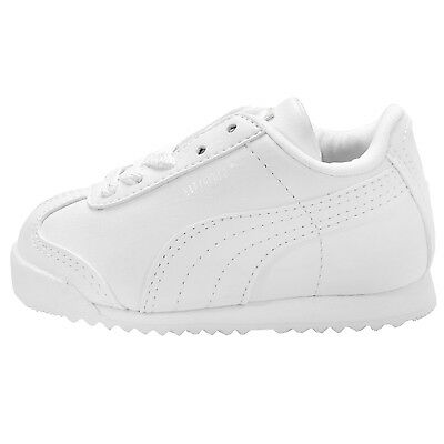 1235e30a PUMA ROMA BASIC KIDS (TD) TODDLER 354260-14 White Shoes Baby Sneakers Size