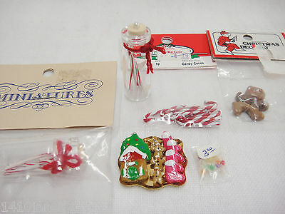 Dollhouse Miniature Christmas Decorations Candy Canes Cookies Peppermint Sticks