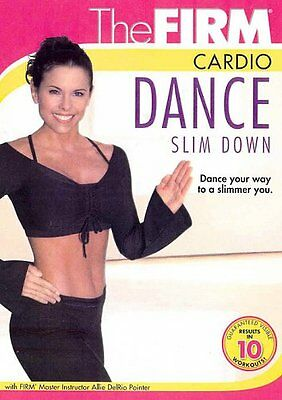 NEW The Firm CARDIO DANCE SLIM DOWN FUN Workout w/ Allie DelRio Pointer +BONUSES