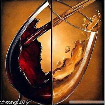 """MODERN ABSTRACT CANVAS ART OIL PAINTING """"cheers"""""""