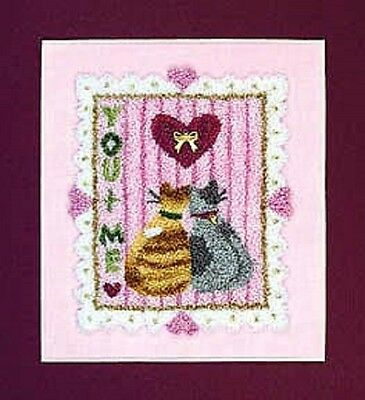 Kitty Love - Calico Crossroads Punchneedle Embroidery Pattern + fabric & charms