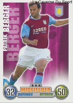 Patrik Berger # Rep.czech Aston Villa Card Premier League 2008 Topps