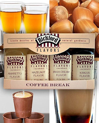 Coffee Break Collection 4 Flavor Concentrate Variety Pack from Bickford 5004