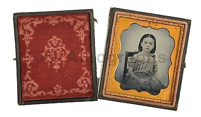 Sixth-Plate Ambrotype - Child Portrait - Vintage Case with Velvet Lining