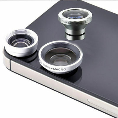 3-in-1 Universal 180°Fish Eye Fisheye & Wide Angle & Macro Lens for iPhone 4s