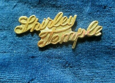 Shirley temple bar pin charm with script name cute 1970's jewelry