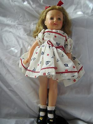 Vintage 1950's Shirley Temple doll in sailor dress sailboats . ST-12 IDEAL