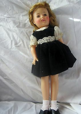 Vintage 1950's Shirley Temple doll in velvet original party dress ST-12 IDEAL