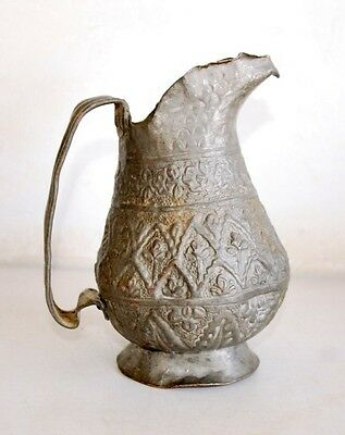 1800's Antique Old Copper Persian Islamic Ottoman Turkey Water Pitcher Pot