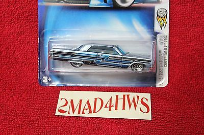 2004 Hot Wheels moc CHEVY IMPALA 1964 first edition #004 lace wheels