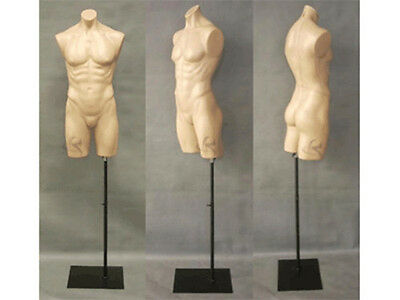 Male Manequin Mannequin Manikin Torso Form #PS-P908F+BS05BK