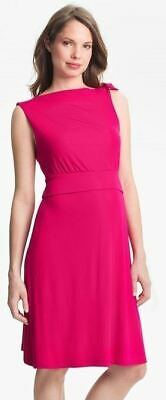 New Japanese Weekend Maternity Nursing Sleeveless Pink Ribbed Knit Dress