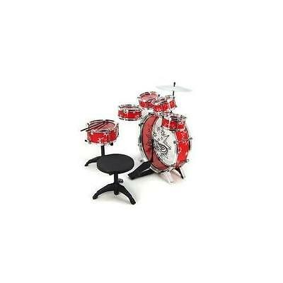 11pc Kids Boy Girl Drum Set Musical Instrument Toy Playset RED New