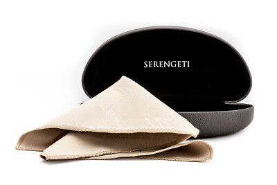 Serengeti Sunglasses Case Dk Brown & Microsuede Cleaning Cloth Authorized Dealer