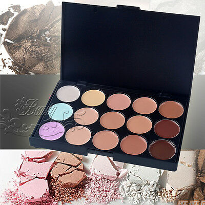 Professional Salon/Party 15 Colors Contour Face Cream Makeup Concealer Palette