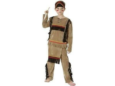Indianer-Kostüm für Kinder/Jungs Komplett-Set Karneval Fasching USA Native LARP
