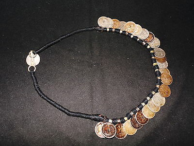 Old Nepal Tibet Ethnic Old Coin Pendant Necklace