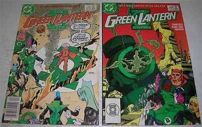GREEN LANTERN CORPS #s 223 & 224 (DC Comics 1988) LAST ISSUES (FN/VF) Kane art