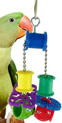 1565 PULL CUP BIRD TOY parrot cage toys cages cockatiel conure african grey