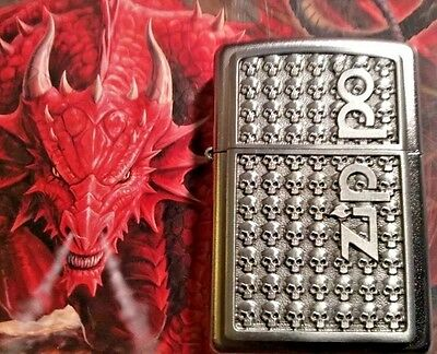 Stunning  ZIPPO Lighter with Skulls - RARE COLLECTABLE-Brand new in ZIPPO Box!!!