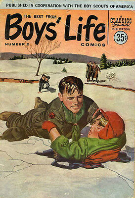 BEST FROM BOYS' LIFE COMICS #2 G, Loose cover, Giant, Classics Illustrated 1958