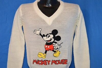 vintage 80s MICKEY MOUSE DISNEY CHARACTER FASHIONS ACRYLIC SOFT SWEATER SMALL S