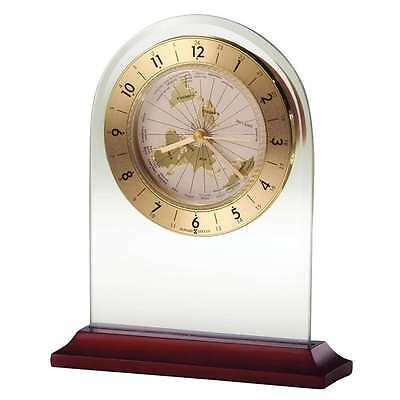 Howard Miller World Time Arch Table Clock, Rosewood base - 645603