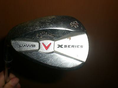 Callaway X Series Jaws CC Brushed Chrome 60* Wedge 13* Bounce-Left Handed!!!