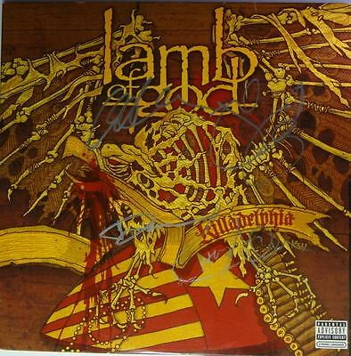 Signed Lamb Of God Autographed Killadelphia Lp New W/pic