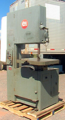 "GROB 24"" Vertical Band Saw Type NS24 metal/wood cutting speeds 50-2030 fpm Indus"