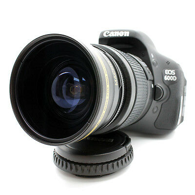 NEW 58MM 0.43X HD Wide Angle Macro Lens for Canon Eos Rebel T3i T4i T5i T3 T5 XS