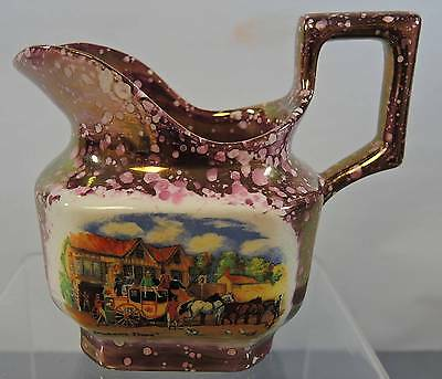 """Gray's Pottery """"Dickens Days"""" Pink Luster Creamer"""