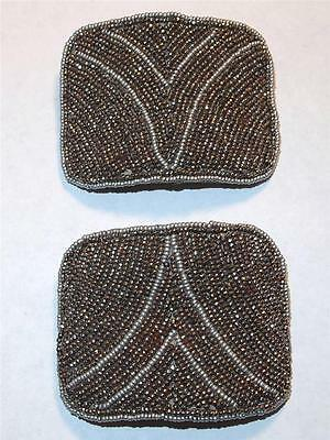 Vintage Art Deco Cut Steel Made In France Reyco Evergrip Pair Shoe Buckles Clips