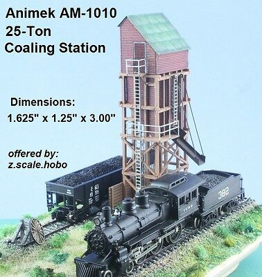 Animek Z Scale Coaling Station Factory Tower Kit Many Details *NEW $0 Shipping