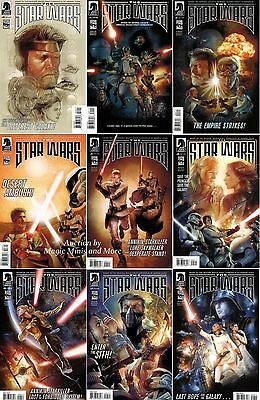 The STAR WARS Lucas Screenplay Draft Comic Set #0 1 2 3 4 5 6 7 8 1st print Lot