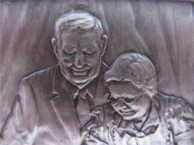 2.1 -Oz .999  Silver Norman Rockwell Freedom From Want Ingot Art Bar + Gold-
