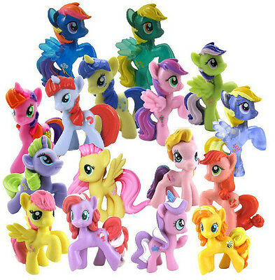 10pcs My Little Pony MIX Animals Loose Figures Collection Toy 12 styles 4-6cm P1