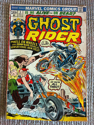 Vintage Ghost Rider # 3 Son Of Satan Marvel Bronze Age Comic